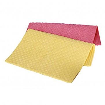 ECOLAB Schwammtuch Spültuch Putztuch 21 x 25 cm gelb rot blau Profituch Reinigungstuch - 10x