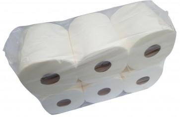 Jumbo Amerikanisches Toilettenpapier Klopapier WC-Papier Putzpapier 2-lagig Zellstoff 6 Rollen 20 cm MIDI