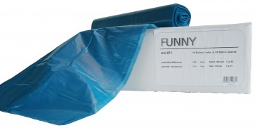 Funny Müllbeutel 700x1100mm ca. 120 l Typ 60 blau 250 Stück in 10 Rollen