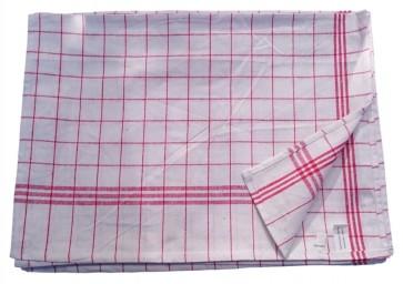Geschirrtuch Gläsertuch Küchentuch Trockentuch Reinigungstuch 50x70cm 100% Baumwolle rot 10er Pack