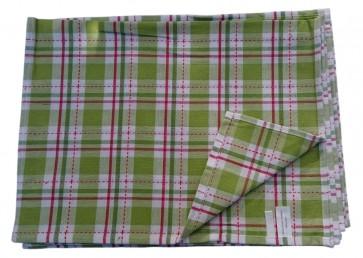 Geschirrtuch Gläsertuch Küchentuch Trockentuch Reinigungstuch 41x65cm 100% Baumwolle grün-kariert 10er Pack