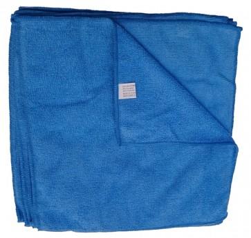 Mikrofasertücher Reinigungstuch Fenstertuch Poliertuch blau 30x30 cm 10er Pack waschbar bis max. 60 Grad