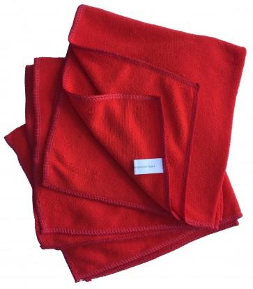 Mikrofasertücher Reinigungstuch Fenstertuch Poliertuch rot 40x40 cm 10er Pack waschbar bis max. 60 Grad