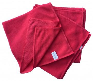 Mikrofasertücher Reinigungstuch Fenstertuch Poliertuch pink 40x40 cm 10er Pack waschbar bis max. 60 Grad