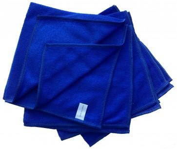 Mikrofasertücher Reinigungstuch Fenstertuch Poliertuch blau 40x40 cm 10er Pack waschbar bis max. 60 Grad