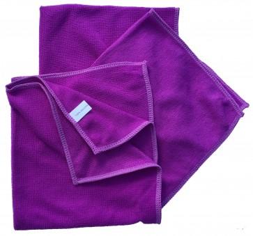 Mikrofasertücher Reinigungstuch Fenstertuch Poliertuch lila 40x40 cm 10er Pack waschbar bis max.60 Grad