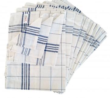 SemyTop SemyTop Geschirrtuch Gläsertuch Küchentuch Trockentuch 50x70cm 100% Baumwolle blau 10er Pack