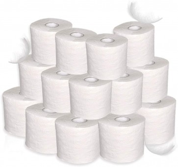 Toilettenpapier Klopapier recycling 2-lg hochweiß 340 Blatt 48 Rollen WC-Papier