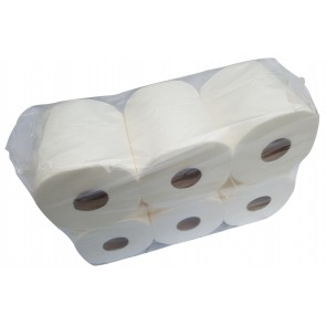 B-Ware 6 x Putztuch Papierhandtuchrolle Putzpapier Putztuchrollen Papierhandtücher 2-lagig Zellstoff