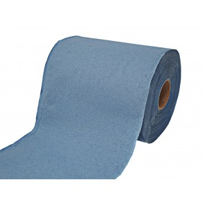 Papierhandtuchrolle Putzpapier Putztuchrollen Papierhandtücher 1-lagig Recycling blau 19 cm MIDI 6 Rollen