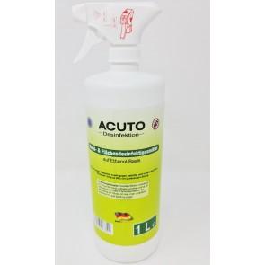Acuto Hand- und Flächendesinfektion Sprühflasche 1 Liter Hände-Antiseptikum Desinfektionsmittel