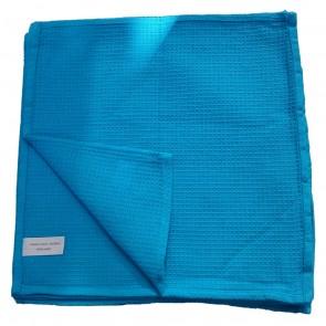 Gläserpoliertuch Gläsertuch Geschirrtuch Küchentuch Reinigungstuch blau 30x30 cm 10er Pack