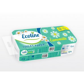 Ecoline 50 Toilettenpapier 3-lagig Klopapier WC-Papier weiß Zellstoff 180 Blatt
