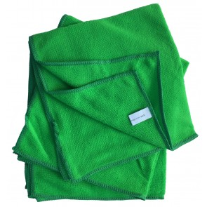 Mikrofasertücher Reinigungstuch Fenstertuch Poliertuch grün 40x40 cm 10er Pack waschbar bis max. 60 Grad