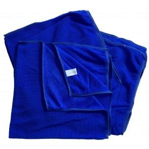 Mikrofasertücher Reinigungstuch Fenstertuch Poliertuch blau 50x50 cm 10er Pack waschbar bis max. 60 Grad