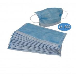 10x Einweg Maske Gesichtsmaske Vlies Einwegmaske Mundschutz Staubschutz