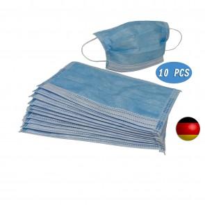 50x Einweg Maske Gesichtsmaske Vlies Einwegmaske Mundschutz Staubschutz blau