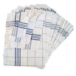 Geschirrtuch Gläsertuch Küchentuch Trockentuch 50x70cm 100% Baumwolle blau 10er Pack