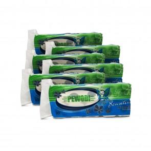 50 Rollen Toilettenpapier Klopapier WC-Papier weiß Zellstoff 180 Blatt
